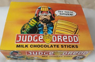 Judge Dredd Chocolate Candy Sticks Retail Box