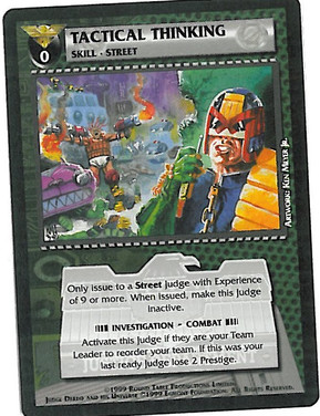 Dredd CCG: Resources - Tactical Thinking