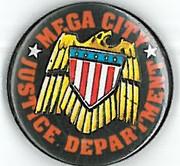 Mega-City Justice Department Badge Eighties