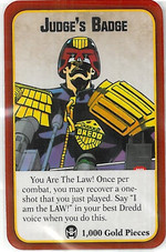 Munchkin: Judge Dredd Judge's Badge
