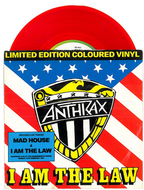 Anthrax: I am the Law 7 Inch Red Vinyl