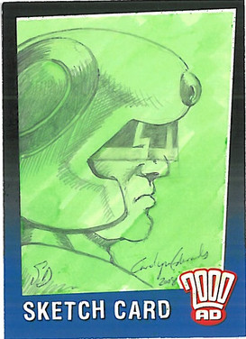 Strictly Ink Sketch Card Johnny Alpha Carolyn Edwards