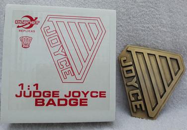 Planet Replicas: Judge Joyce Badge