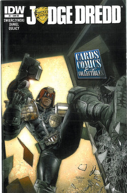 Judge Dredd 1 Cover RE Cards Comics and Collectables