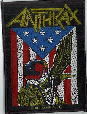 Judge Dredd Anthrax Patch
