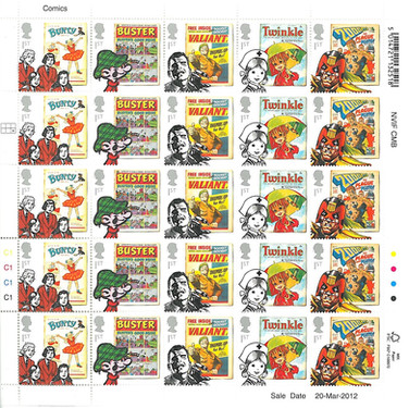 Royal Mail Comic Stamps