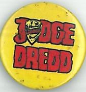 Judge Dredd Logo Yellow Badge Eighties