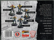 Mongoose: Boxset Justice Department Heroes of Mega-City One Rear