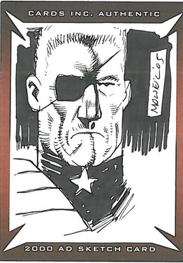 Strictly Ink Sketch Card Cheif Judge Silver Colin MacNeil