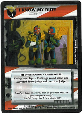 Dredd CCG: Incidents - I Know my Duty