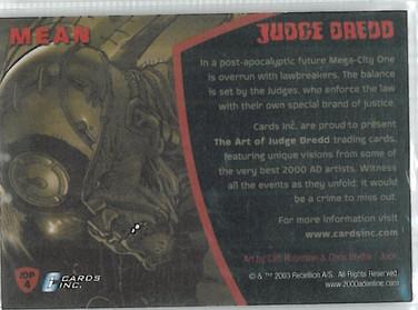 Strictly Ink Promo JDP4 Reverse
