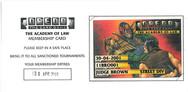 Dredd CCG: Main - Club Membership Card