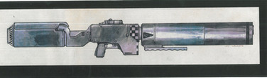 Judge Dredd 1995 Aspen Judge Rifle Studio Print