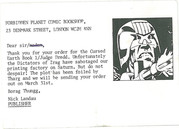 2000ad Postcard of late Titan Graphic Novel Release