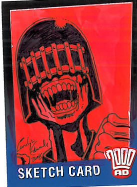 Strictly Ink Sketch Card Judge Death Carolyn Edwards