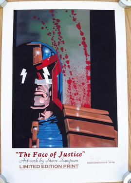 Steve Sampson Judge Dredd Print