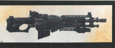 Judge Dredd 1995 Judge Hunter's Rifle Studio Print