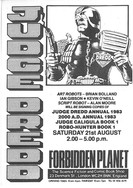 Forbidden Planet 2000ad Signing Flyer 1982