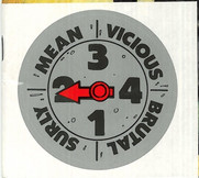 Mean Machine Sticker issued with The Complete Judge Dredd 27