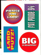 Fattie Stickers issued with The Complete Judge Dredd 32 Part 1