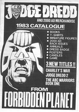 Forbidden Planet 2000ad Catalogue 1