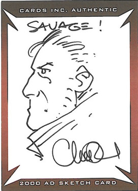 Strictly Ink Sketch Card Savage Charlie Adlard