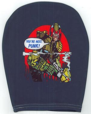 Car Headrest Covers Judge Dredd Blue