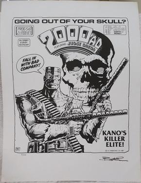 Tom Frame: Brett Ewins Prog 510 Cover Print