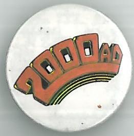2000ad logo Badge Eighties