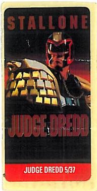 Judge Dredd Movie Promo Sticker