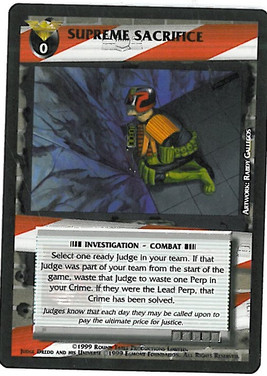 Dredd CCG: Incidents - Supreme Sacrifice
