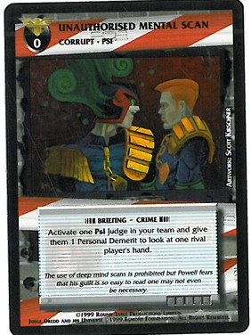 Dredd CCG: Incidents - Unauthorised Mental Scan
