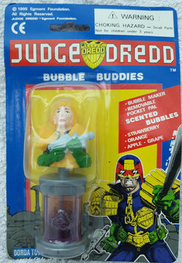 Judge Anderson with Lawgiver Bubble Buddies