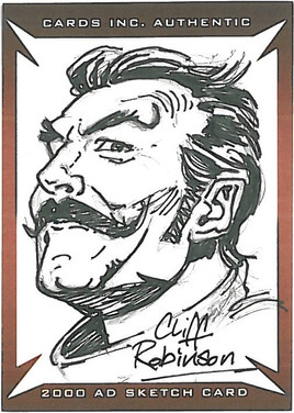 Strictly Ink Sketch Card Devlin Waugh Cliff Robinson