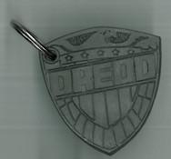 2000ad Dredd Badge Keyring