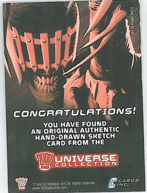 Strictly Ink Sketch Card Reverse 3