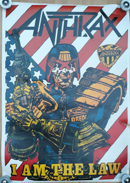 Anthrax Judge Dredd Poster
