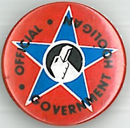 Crisis Government Hooligan Badge Eighties