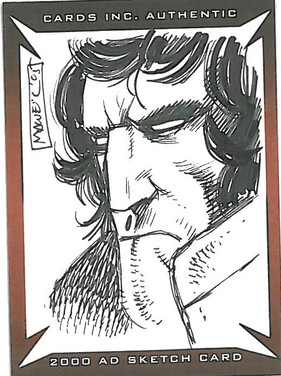 Strictly Ink Sketch Card Johnny Alpha Colin MacNeil