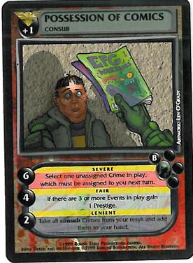 Dredd CCG: Crimes - Possesion of Comics