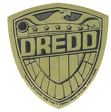 Judge Dredd Promo Sticker