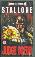 Judge Dredd 1995 VHS Widescreen (Free Poster)