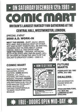 Comic Mart Flyer 1981.