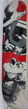 Judge Dredd vs Clown Skateboard