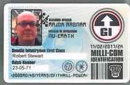 Planet Replicas Milli-com ID Card.