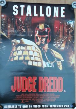 Judge Dredd 1995 Movie Video Release Poster