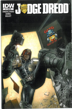 Judge Dredd 1 Cover RE Gifts for the Geek