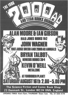 Forbidden Planet 2000ad Signing Flyer 1986