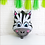 Thumbnail: 1pcs 45cm x 64cm Zebra Foil Balloon with 8pcs Standard Balloons