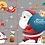 Thumbnail: Tracless Santa Claus and Christmas Related Decorations Sticker